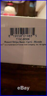 16 inch robert tonner dolls LE resort stripe basic cami doll blonde New