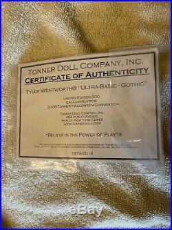 Tonner 16 2008 ULTRA BASIC TYLER WENTWORTH GOTHIC Mint! LE 300