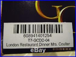 Tonner The Golden Compass London Restaurant Mrs. Coulter