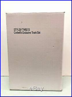 Tyler Corbett's Exclusive Trunk Set ultra soft hair luggage outfit shoes NRFB